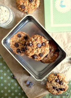 Μπισκότα με ταχίνι χωρίς αλεύρι Vegan Foods, Vegan Recipes, Tahini, Biscuits, Cereal, Muffin, Veggies, Cookies, Breakfast