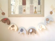 6 Little Elephants All In A Row  3D Paper Garland by MaisyandAlice, $24.00