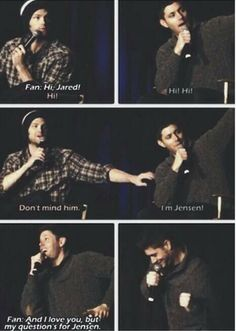 Give him some attention :) #Jensen #Jared