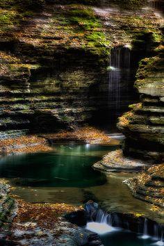 Rainbow Falls, Watkins Glen State Park, New York