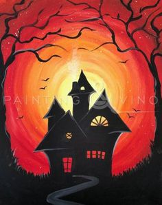 What a perfect Halloween painting to add to your collection of spooky decor! Check this painting out in our Orange County location!