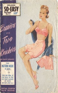 Weldons So-Easy 85 vintage Bra and knickers pattern