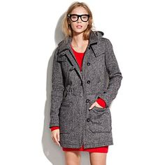 Tweed parka with elbow patches and hood. Yes please, a thousand times yes.