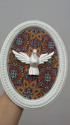 Quadro MDF Espírito Santo branco perolado