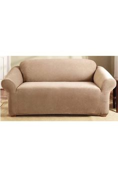 Sure Fit Couch Cover 2 Seater Dark Flax