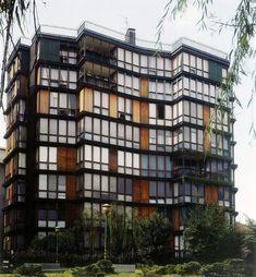 apartment building at via quadronno angelo mangiarotti, bruno morassutti & aldo favini, 1960