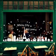 Tuscom Christmas Snowflake Christmas Decoration Shop Window Urban Wall Stickers6090cm *** Read more reviews of the product by visiting the link on the image.