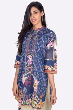 Shop Online This Beautiful Pakistani Sapphire Colored Ready To Wear 1 Piece Cambric Dress By Zeen Cambridge Pre Fall Collection 2017 Available Online #wintercollection  #blackfriday #readytowear #pretwear  #unstitched #online  #linen #linencollection  #lahore #karachi #islamabad #newyork #london  #pakistan #pakistani #indian #alkaram #breakout #zeen  #khaadi #sanasafinaz #limelight #nishat #khaddar #daraz #gulahmed #2017 #2018  #blackfriday #pakistani_dresses #best_price #indian_dresses