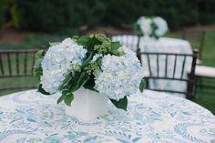Light blue hydrangeas Photography by Leigh Webber / leighwebber.com, Event Planner and Designer by Kristin Newman Designs / kristinnewman.com, Floral Design by Gathering Floral + Event Design / gatheringevents.com