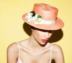 Tami Bar-Lev millinery boater hat