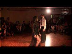 Profesores, profesionales del tango, bailan en milonga. Demian Garcia, Laly Victoria - YouTube