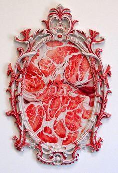 Victoria Reynolds - Meat Paintings.