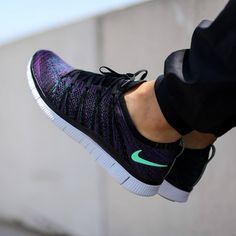 #copordrop?: @nike Free Flyknit NSW Black/Green Glow-Radiant Emerald-Vivid Purple. Photo: @titoloshop