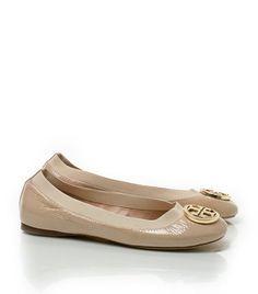 Patent Caroline Ballet Flat - Tory Burch - $225