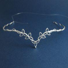 Celtic Wedding Bridal Circlet Headpiece in Sterling silver, Trinity Knot Design, Handmade on Etsy, $169.95
