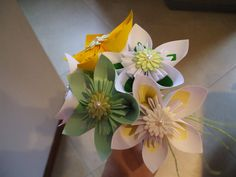 Kusudama single flower wedding bouquet paper flower di BOMBOSTEFY