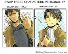 Levi and Berthold character swapping