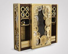 Elaborate Luxury Steampunk Boxes - This Intricate Steampunk Safe-Box Brings Art to Protection