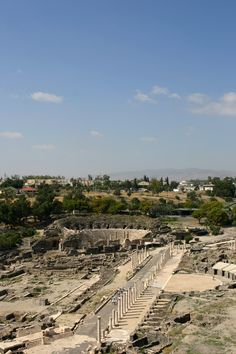Beth Shean also known name was Scythopolis. Beth Shean placed between Harod and Jordan Valleys. Beth Shean is the gate of the Garden of Eden.