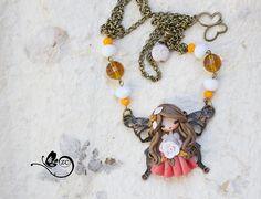 polymer clay necklace / fairy / clay / fimo / zingara creativa / polymerclaydoll