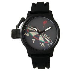 Darts, Destination Bullseye, Black Rubber Watch