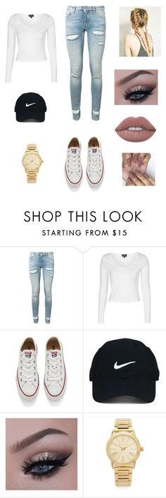 """Untitled #29"" by joslynnkenworthy on Polyvore featuring Off-White, Topshop, Converse, Nike Golf, Michael Kors and Lime Crime"