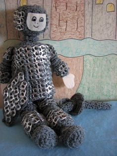 Crochet Pattern Tin Can Knight Doll Toy a Pop Tab Creation in PDF. $3.99, via Etsy.