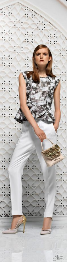 Resort 2016 Genny women fashion outfit clothing style apparel @roressclothes closet ideas