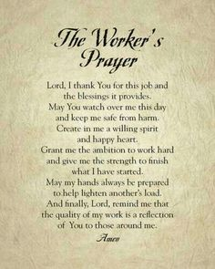 Resultado de imagen para prayer for workplace Prayer Times, Prayer Scriptures, Bible Prayers, Catholic Prayers, Faith Prayer, God Prayer, Prayer Quotes, Power Of Prayer, Healing Prayer