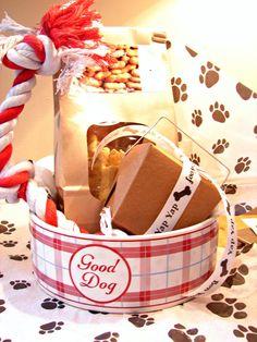 Dog Treats Gift Baskets Dog Toy Dog Bowl by TrueTreatsPetBakery, $38.00