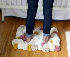 DIY Bedside Pom Pom Rug - DIY Craft Kits, Monthly Craft Projects, Craft Supplies, Subscription Box | Whimseybox