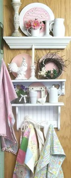 Cute Shelves Filled With Knick Knacks.....