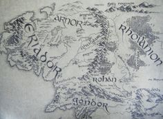 Handdrawn Map of Middle Earth A3 Lord of the Rings JRR Tolkien. £50.00, via Etsy.