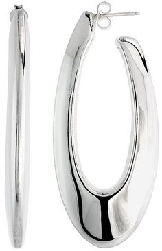 (Sterling Silver 2 1/4 in. X 1 in. (57 mm X 25 mm) Electroformed Oval Hoop earrings amazon)  the related yin yang personality/color/style systems have similar jewelry recommendations. several authors recommend for #winter  / #type4  = oval, polished silver, large size, stillness. it says electroforming process means they are not as heavy as they look.