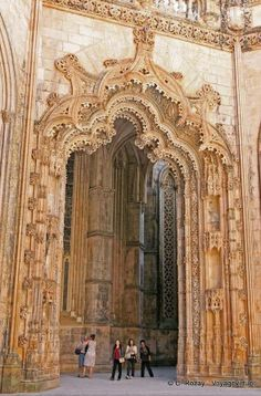 GOTHIC, Portugal - Church of Santa Maria da Vitória at Batalha Monastery, begun 1386...
