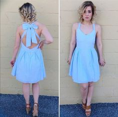 { Baby Blues Seersucker Dress }