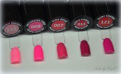 Nails by CzarO : Zestawienie kolorów brzoskwiniowych, pomarańczowych i różowych