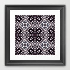 Stone flowers Framed Art Print