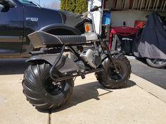 Custom trapper trail mini bike with carbon fiber fenders
