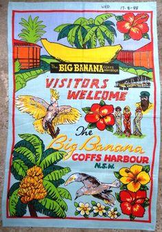 "Why retro fans (and others) love ""kitschy"" souvenir tea towels? Banana Tea, Retro Fan, Printed Portfolio, Towel Crafts, Australian Art, Vintage Prints, Tea Towels, Vintage Inspired, My Etsy Shop"