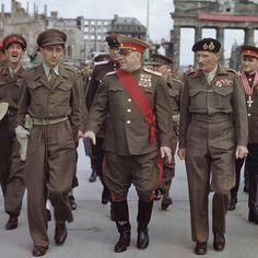 Montgomery meets Zhukov in Berlin in 1945