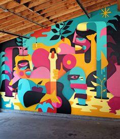Small Home Interior Liquid Magnetism Vancounver BC (Canada) Home Interior Liquid Magnetism Vancounver BC (Canada) 2018 Mural Wall Art, Mural Painting, Wall Paintings, Graffiti Art, Office Mural, School Murals, Cafe Art, Murals Street Art, Art Design