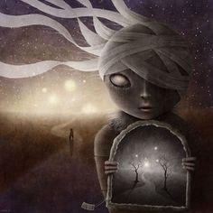 Shadow #mariannastelmach #art #digital #digitalart #drawing #painting #imagination #fantasy #horror #surrealism #surrealist #surreal #surrealart #psychedelic #psyart #trippy #dark #darkart #darkness #magic #magical #mystical #weird #shadow #portal #trees #lights #night #stars #glow