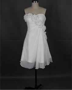 New Arrival Beach Sweetheart Sleeveless Mini Chiffon Flowers Short Prom/Evening/Party/Homecoming/Bridesmaid/Cocktail/Formal Dress 2013s. $67.00, via Etsy.