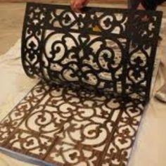 Spray paint floor mat - cool idea for a large jute/sisal outdoor rug