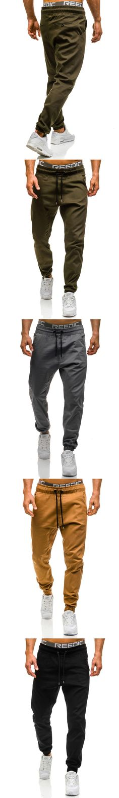 Brand Male New Fashion 2017 Slim Solid color Men Casual Pants Man Trousers Designer Mens Joggers