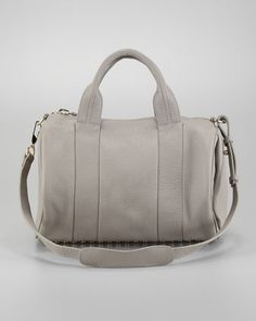 Rocco Stud-Bottom Duffel Bag, Oyster by Alexander Wang at Neiman Marcus.
