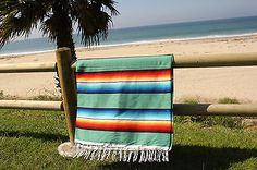 Mexican Serape Blanket Horse Beach Yoga Sarape Throw Zarape Southwestern 5x7