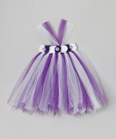 Take a look at this Lilac & White Flower Tutu Dress - Infant, Toddler & Girls by Bébé Oh La La on #zulily today!