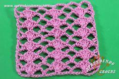 Ponto de Crochê Fantasia - 3 - Receita de Croche com o Passo a Passo no Link http://www.aprendendocroche.com/receitas-de-croche/video-aula.asp?resid=1445&tree=2